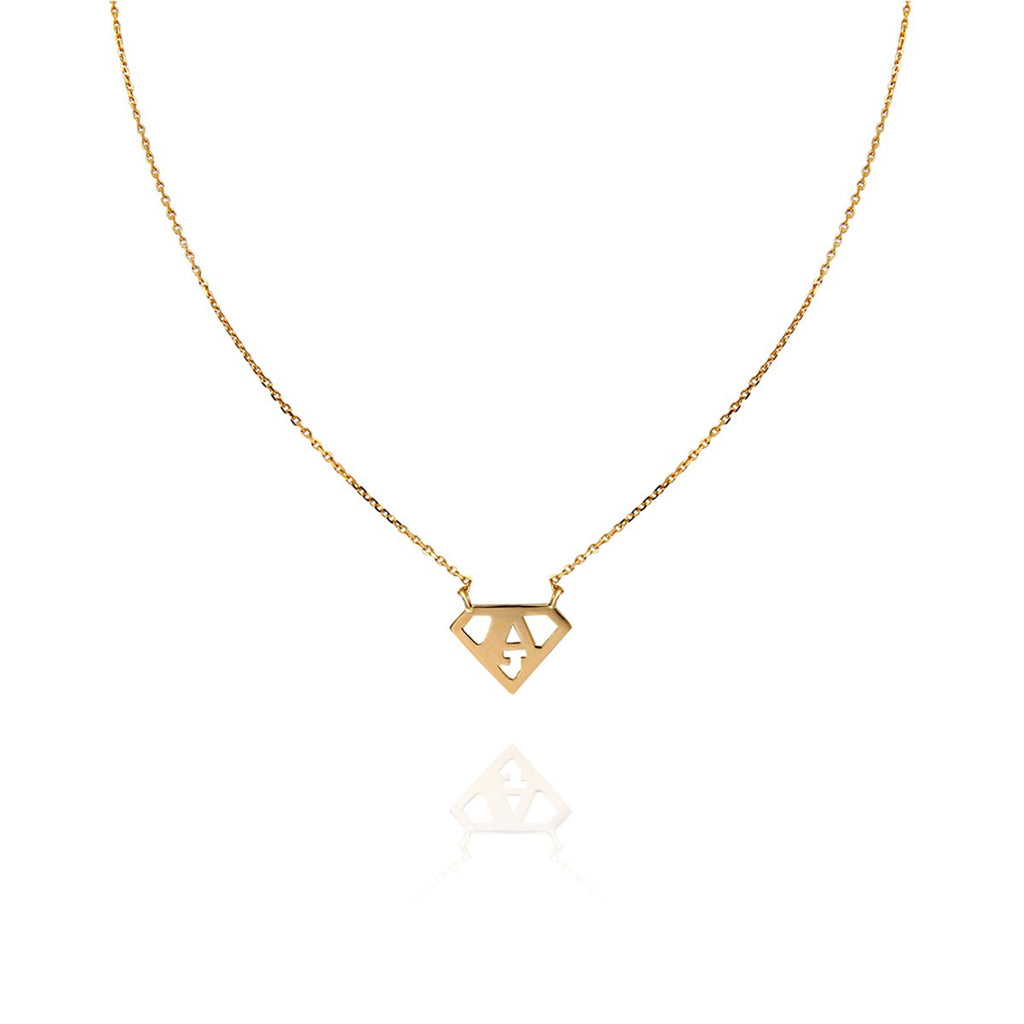 18K Gold Super Girl Necklace | Meher Jewelry | Fine Jewelry | Necklace