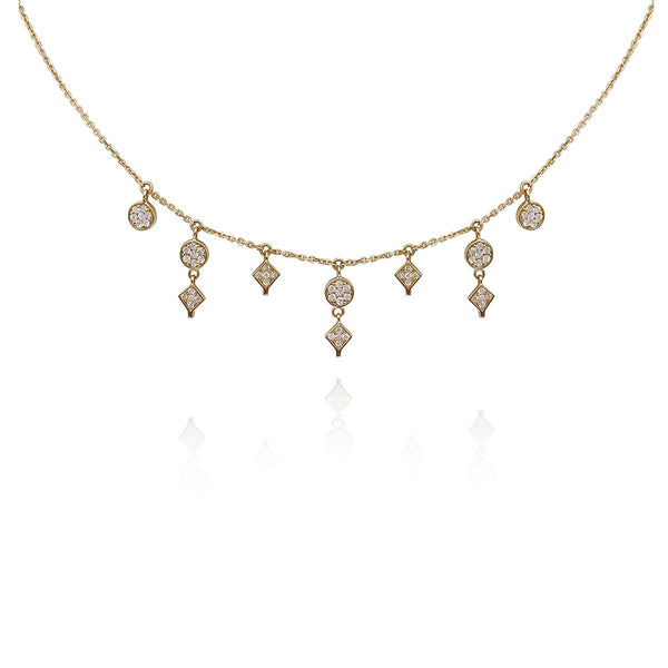 18K Gold Dream Catcher Layering Necklace | Meher Jewelry | Fine Jewelry | Necklace