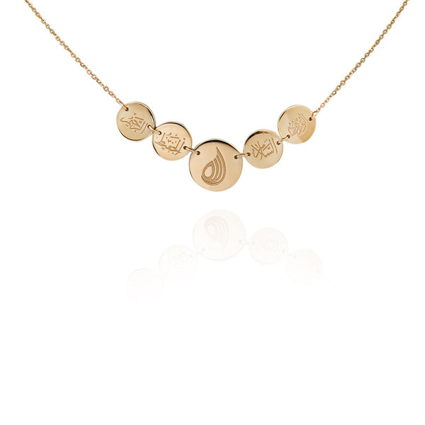 18K Gold Five Disc Necklace | Meher Jewelry | Fine Jewelry | Necklace