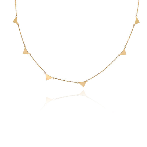 18K Gold Triangles Necklace | Meher Jewelry | Fine Jewelry | Necklace