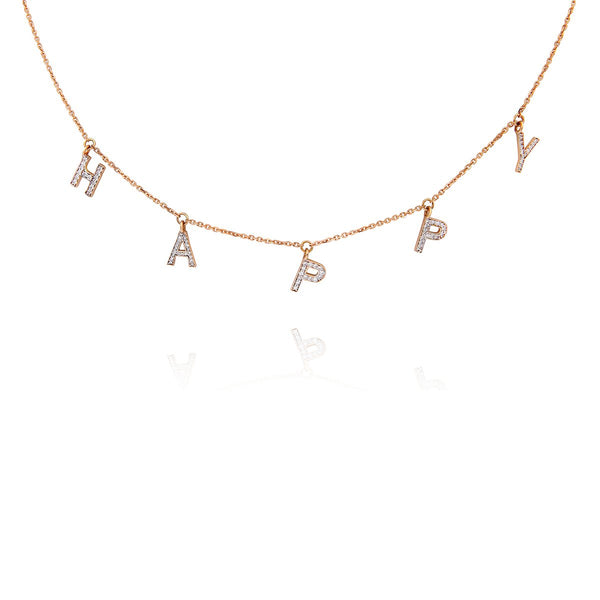 18K Gold Happy Necklace | Meher Jewelry | Fine Jewelry | Necklace