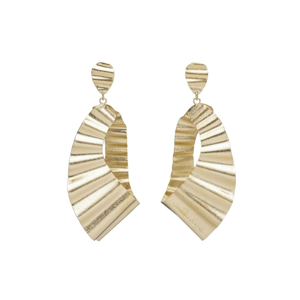 Wavy drop post earrings | Marcia Moran | Fashion Accessories |Earrings