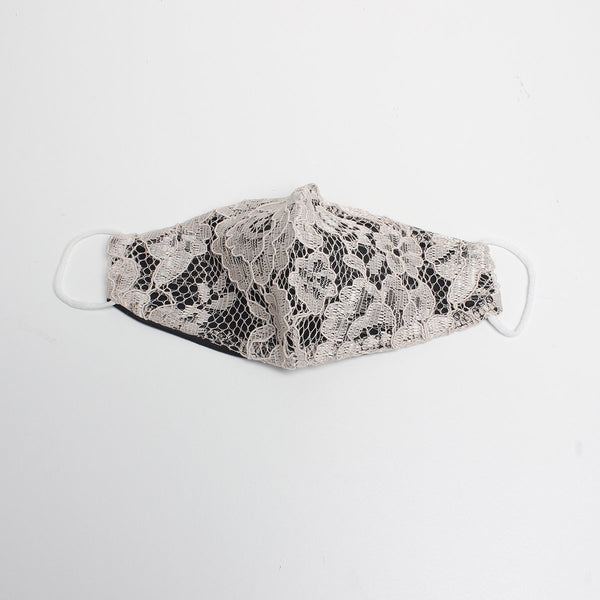 Beige Lace Mask | Alex. Max | Fashion Accessories | Mask