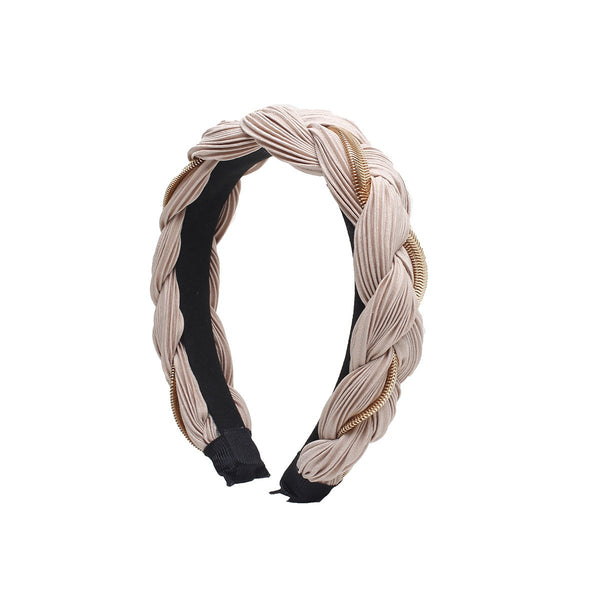 Tan Athena Braided headband | Gemelli | Home Accessories