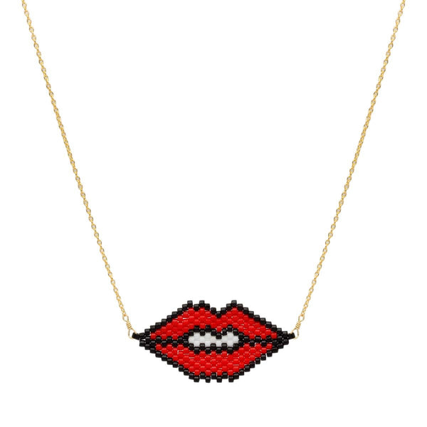 Lips Necklace | Bara Boheme | Fashion Accessories | Necklace