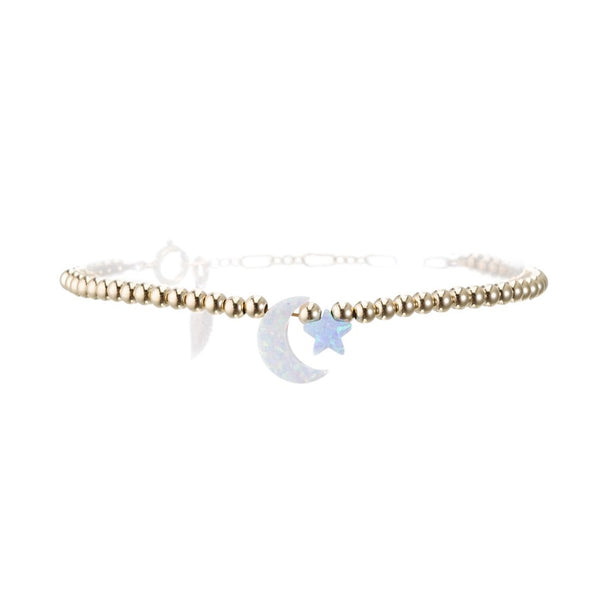 Star And Moon Bracelet | Bara Boheme | Fashion Accessories | Bracelet