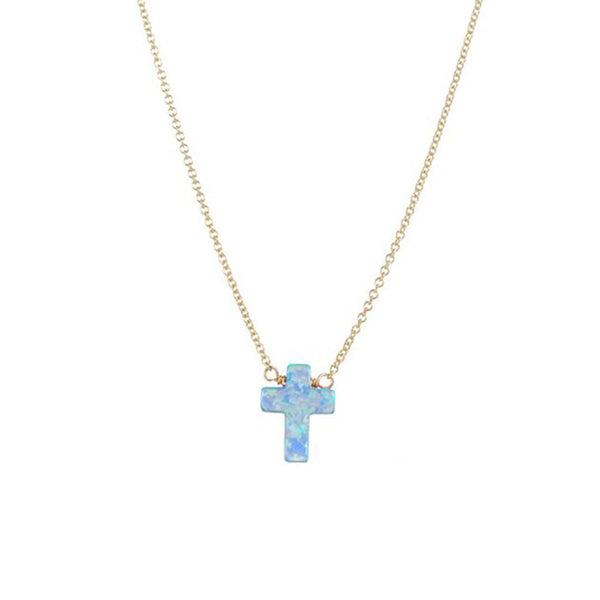 Blue Cross Necklace | Bara Boheme | Fashion Accessories | Necklace