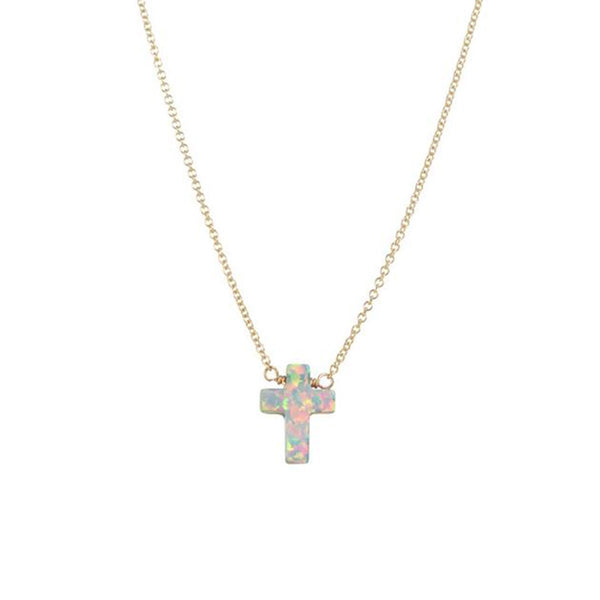 White Cross Necklace | Bara Boheme | Fashion Accessories | Necklace