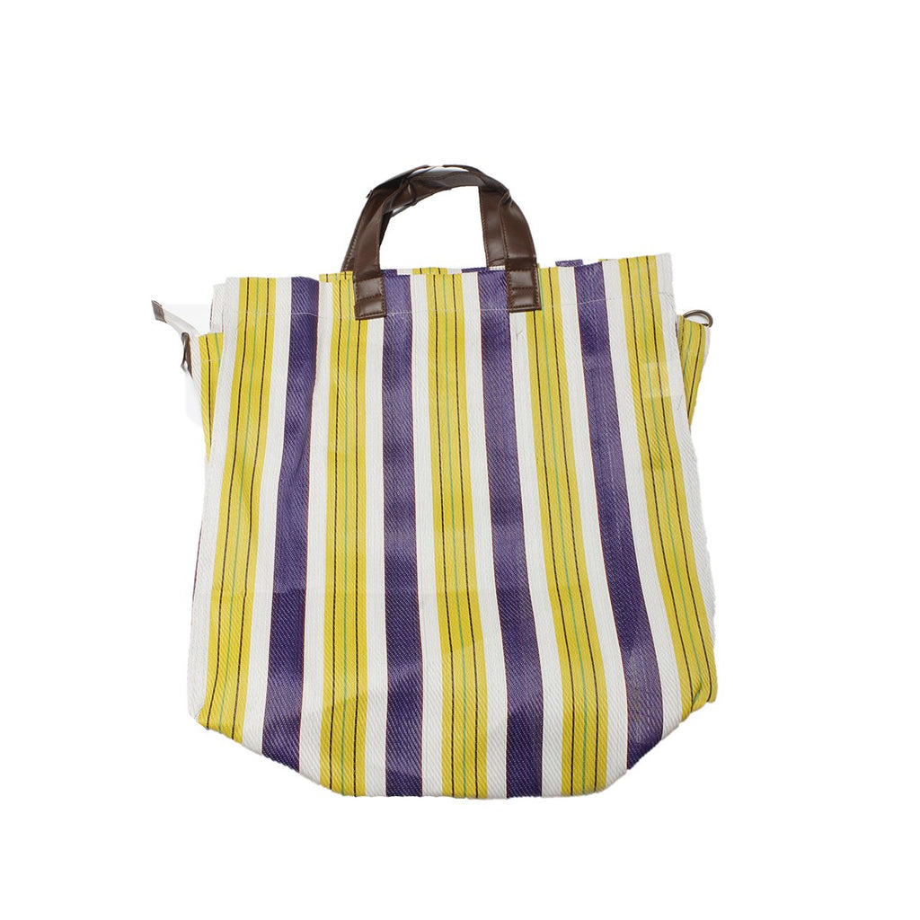 Yellow Stripe Beach Bag | Alex.Max | Bag | Beach Bag