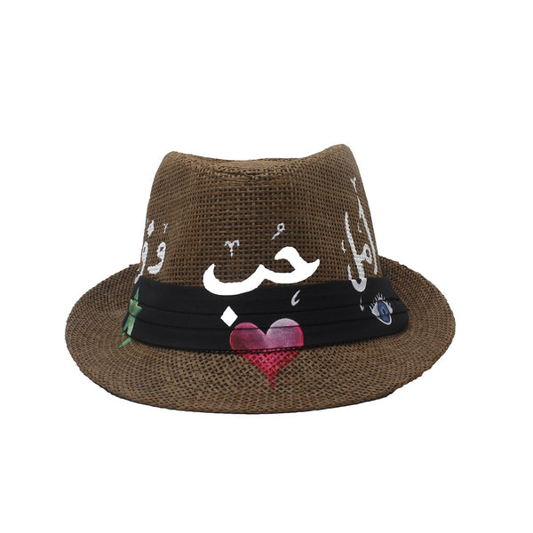 Hope, Love, Loyalty Brown Fedora Hat | City Girl | Fashion Accessories | Hats