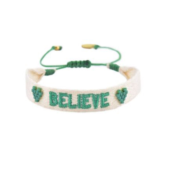 Embroidered Believe Bracelet | Mishky | Fashion Accessories | Bracelet