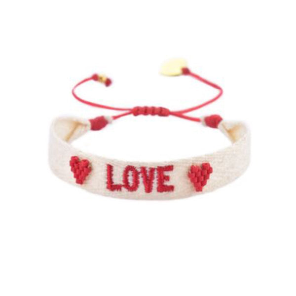 Embroidered Love Bracelet | Mishky | Fashion Accessories | Bracelet
