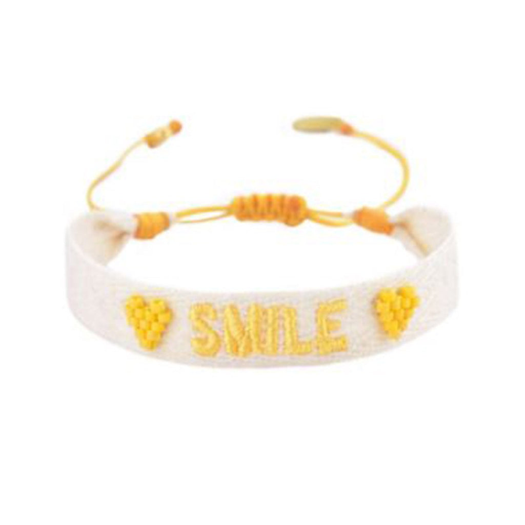 Embroidered Smile Bracelet | Mishky | Fashion Accessories | Bracelet