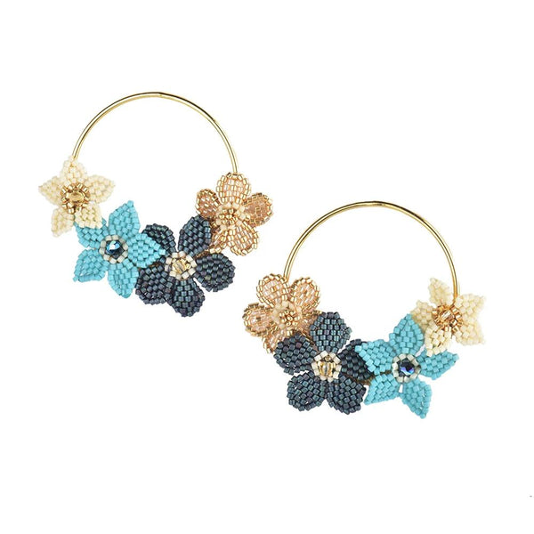 Beaded Flower Earrings | Mishky | Fashion Accessories | Earrings