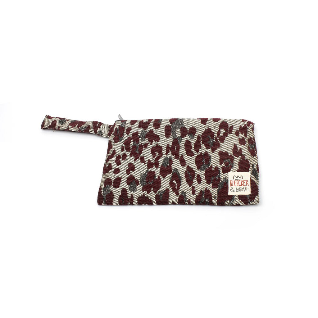 Small Leo-Bordeaux Clutch Bag | Bleecker & Love | Bag | Clutch Bag