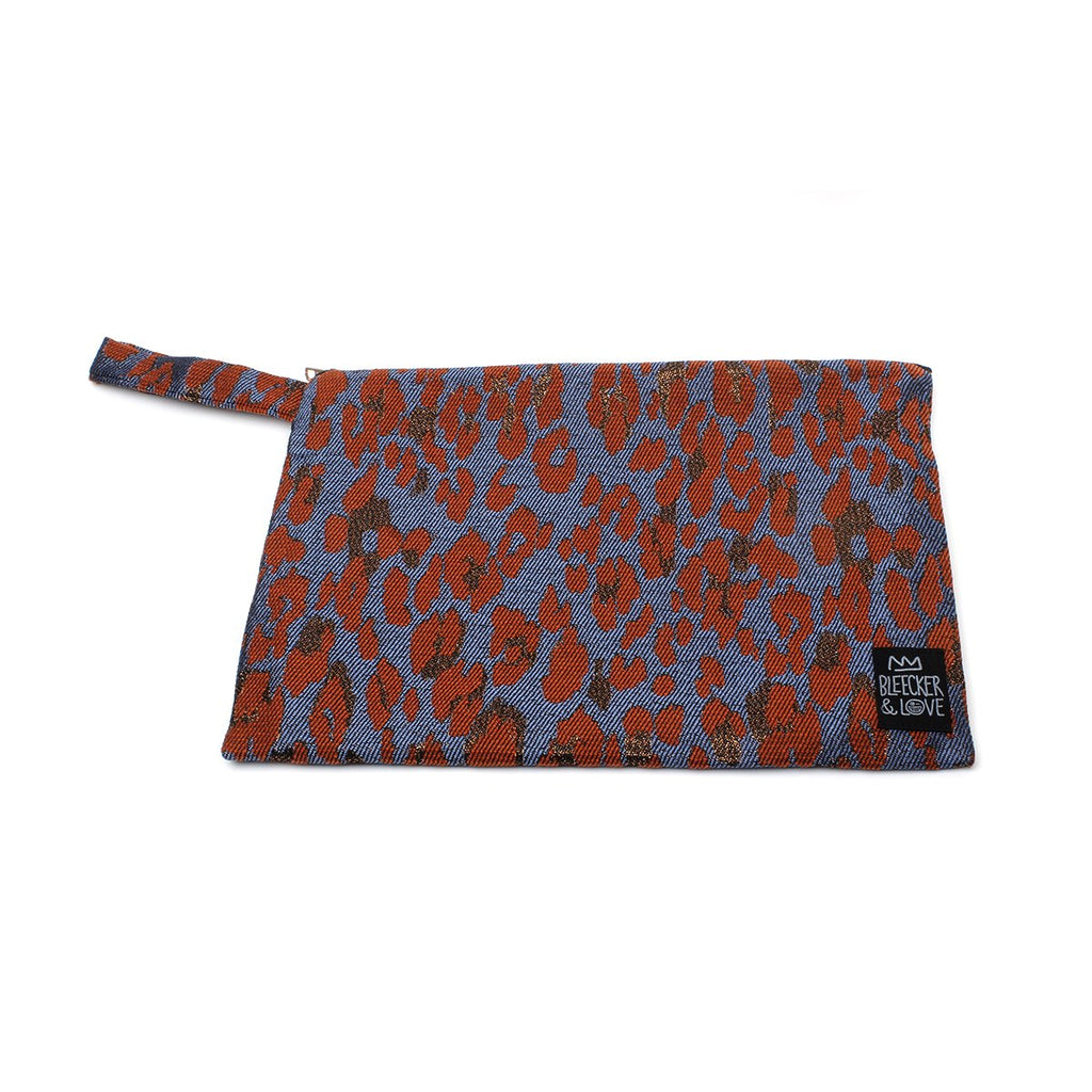 Medium Leo-Terracotta Clutch Bag | Bleecker & Love | Bag | Clutch Bag