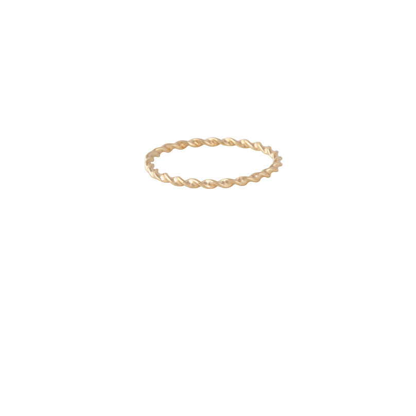 18K Gold Stackable Twisted Ring | Lylia Concept | Fine Jewelry | Ring