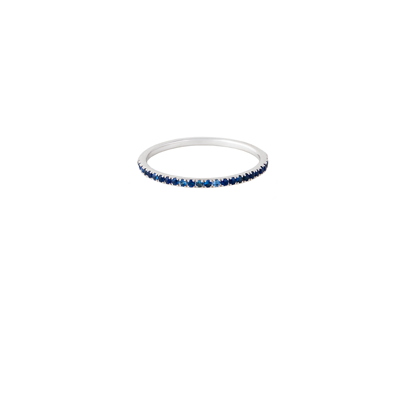 18K Gold Blue Saphire Eternity Band Ring | Lylia Concept | Fine Jewelry | Ring