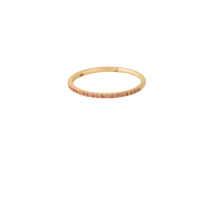 18K Gold Orange Saphire Eternity Band Ring | Lylia Concept | Fine Jewelry | Ring