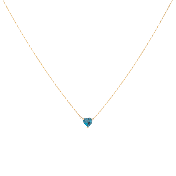 18K Gold Ocean Heart Necklace | Lylia Concept | Fine Jewelry | Necklace