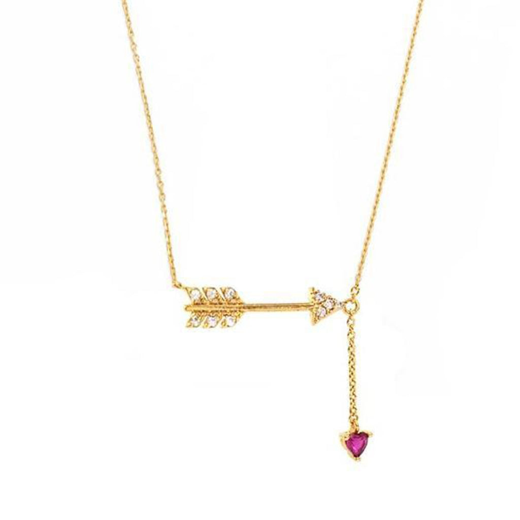 Arrow And Hanging Heart Necklace | Tai | Fashion Accessories | Necklace