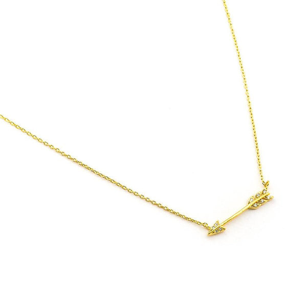 Gold Medium Arrow Necklace | Tai | Fashion Accessories | Necklace