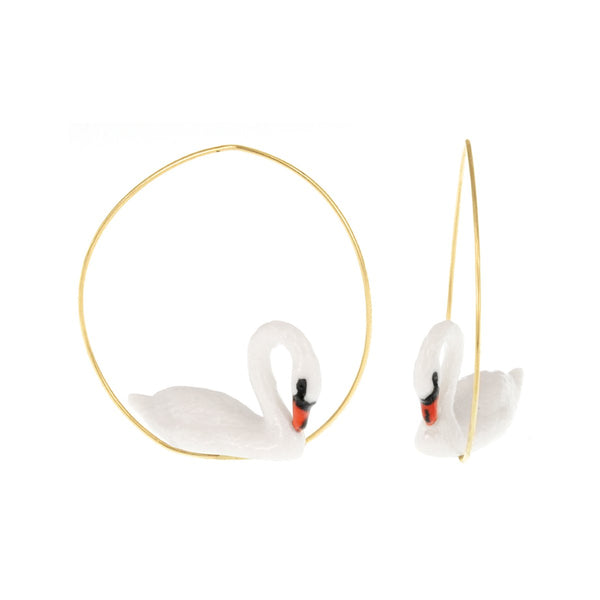 White Swan Earrings | Nach Bijoux | Fashion Accessories | Earrings