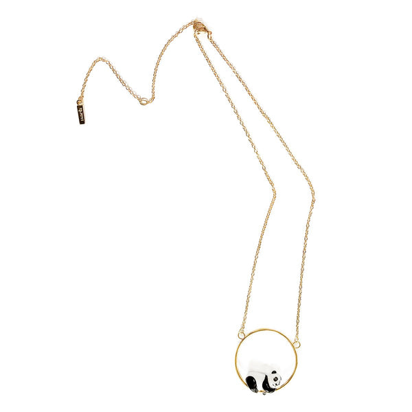 Sleeping Panda Mini Round Necklace | Nach Bijoux | Fashion Accessories | Necklace