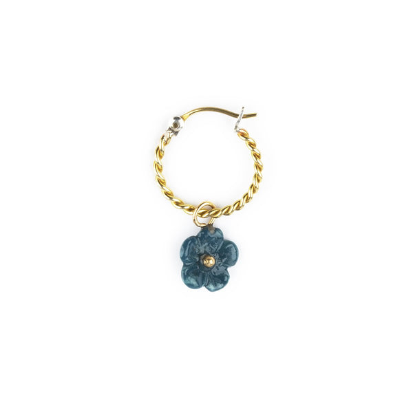 Single Piece Turquoise Flower Mini Earring | Nach Bijoux | Fashion Accessories | Earrings