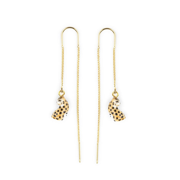 Sitting Leopard Long Earrings | Nach Bijoux | Fashion Accessories | Earrings