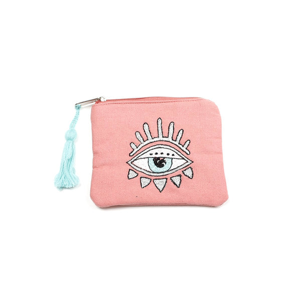 Pink Embellished Bling Eye Coin Purse | America & Beyond |Bag | Coin Purses