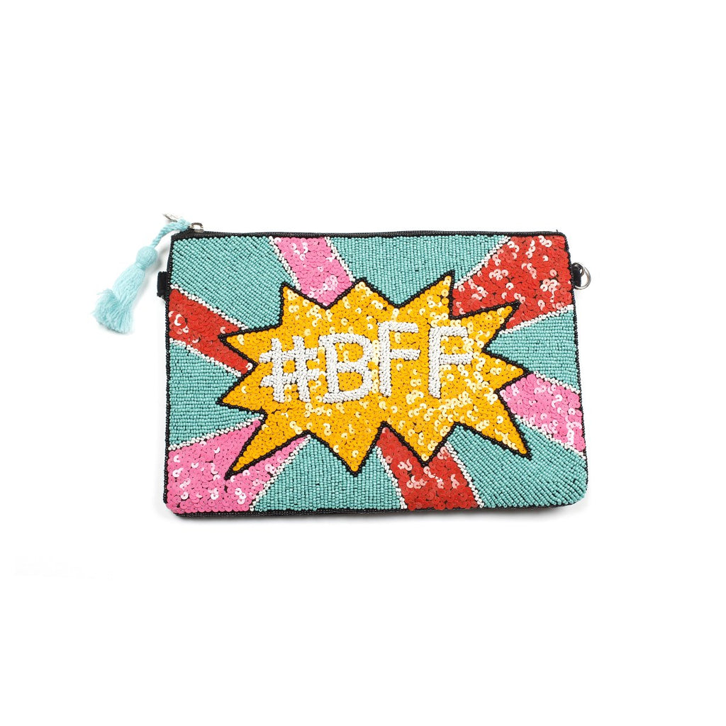 Bff Beaded Clutch Bag | America & Beyond |Bag | Clutch bag