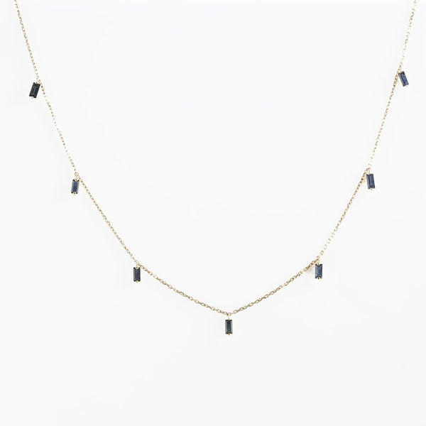 18K Gold Sapphires Choker Necklace | Orchid Jewelry | Fine Jewelry | Necklace