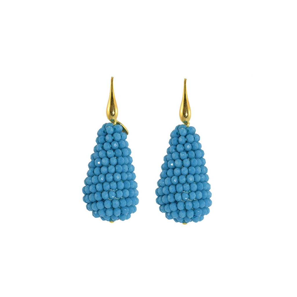 Light Turquoise Drops Earrings | Miccy's | Fashion Accessories | Earrings