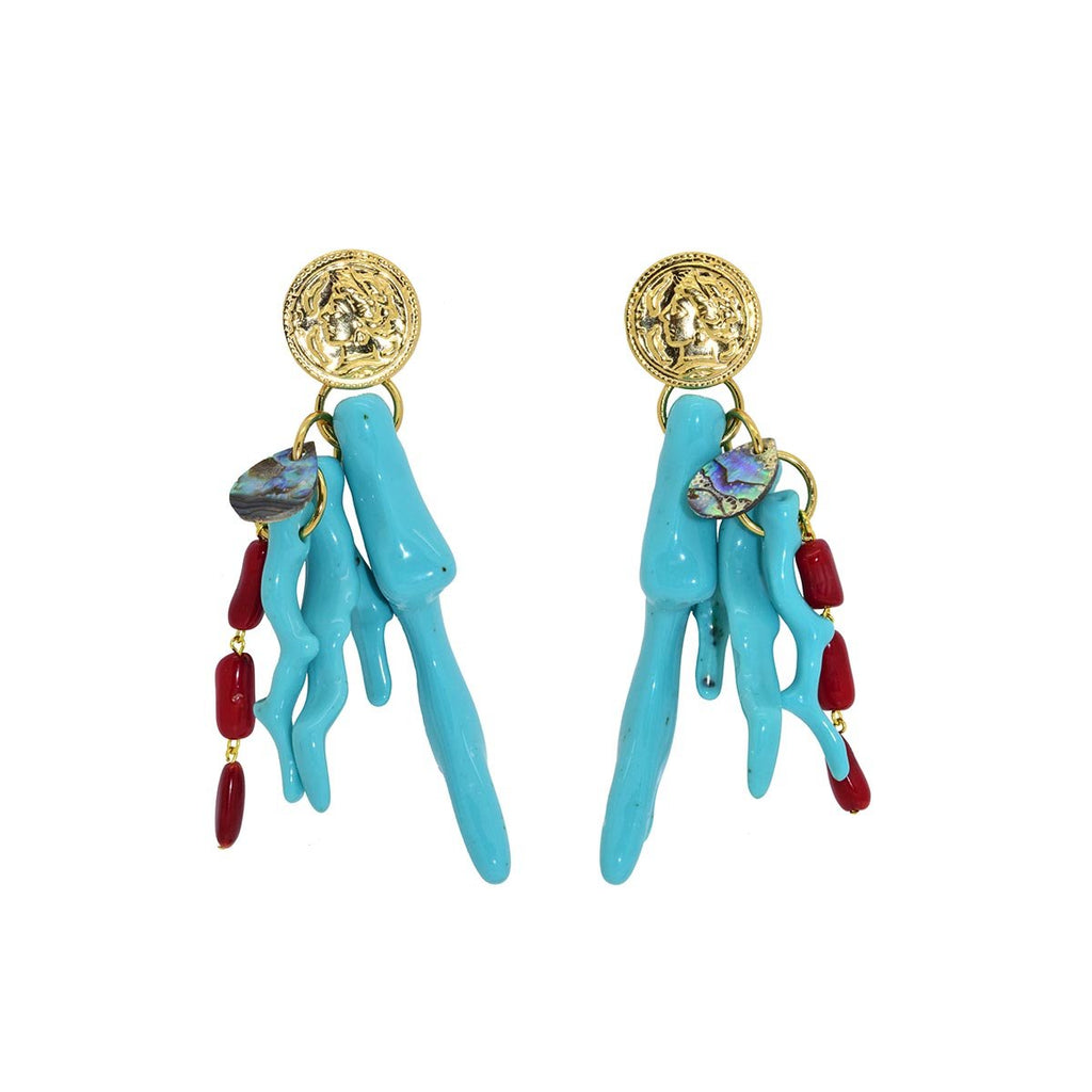Summer Coral Earrings | Miccy's | Fashion Accessories | Earrings