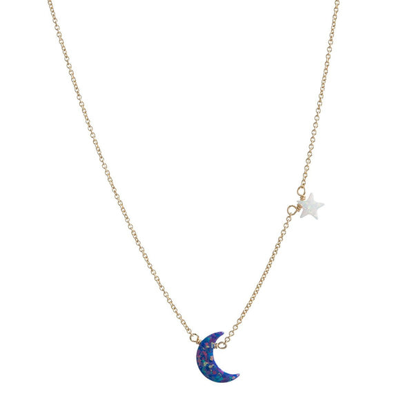 Star And Moon Necklace | Bara Boheme | Fashion Accessories | Necklace