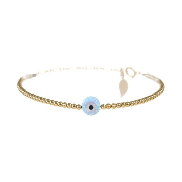 Blue Small Round Eye Bracelet | Bara Boheme | Fashion Accessories | Bracelet