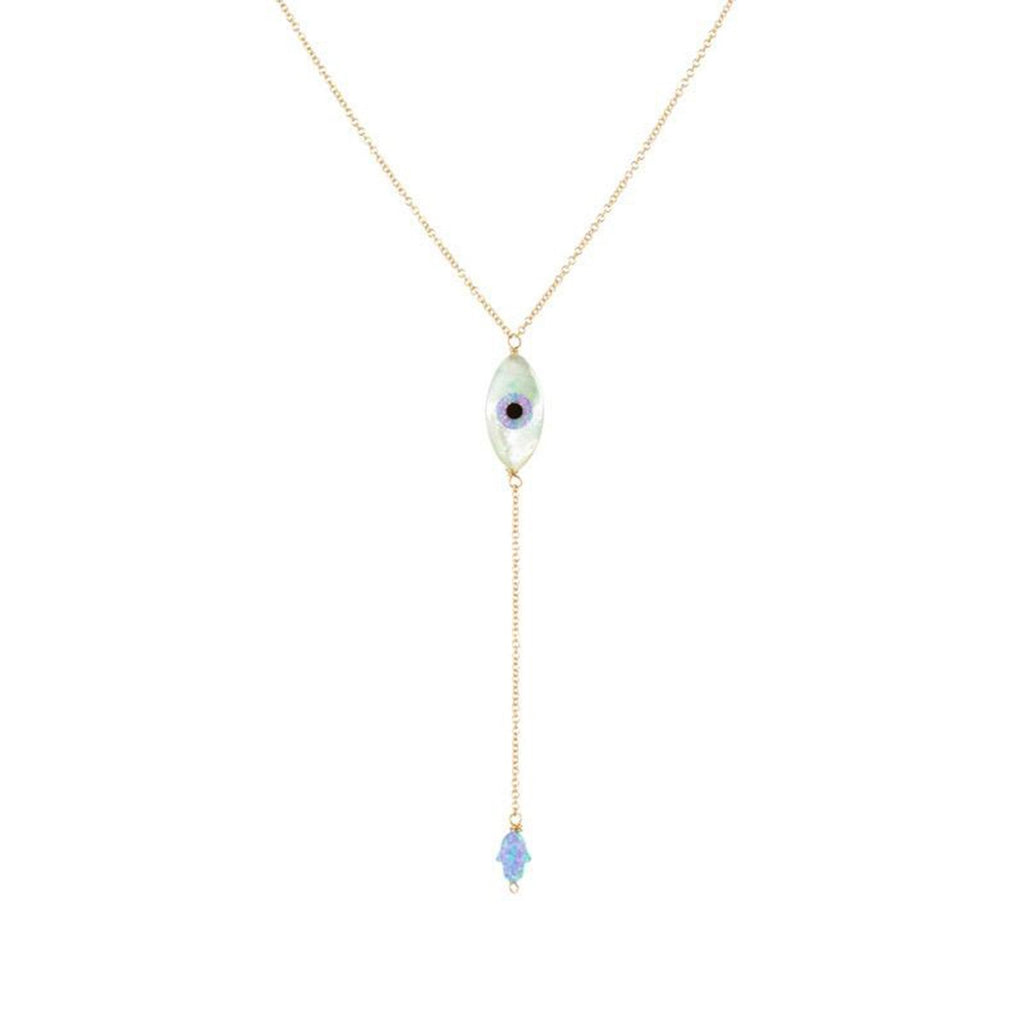 Eye Shape Eye Lariat Necklace | Bara Boheme | Fashion Accessories | Necklace