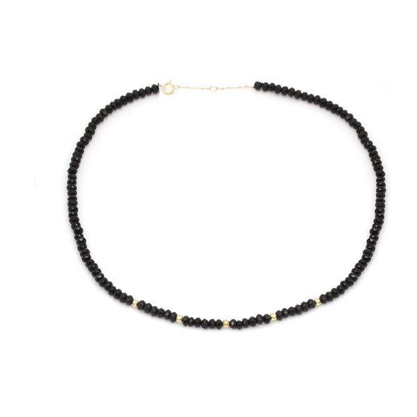18K Gold Onyx Necklace | Stunner | Fashion Accessories | Necklace