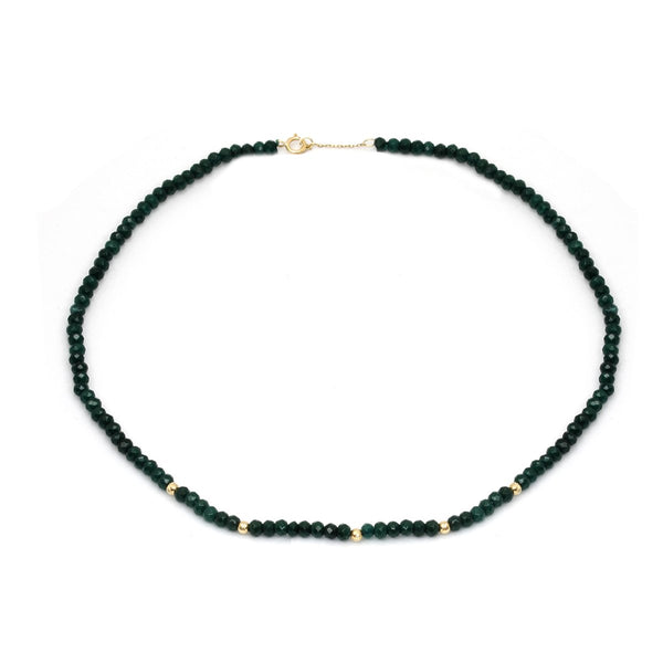 18K Gold Emeralds Necklace | Stunner | Fashion Accessories | Necklace