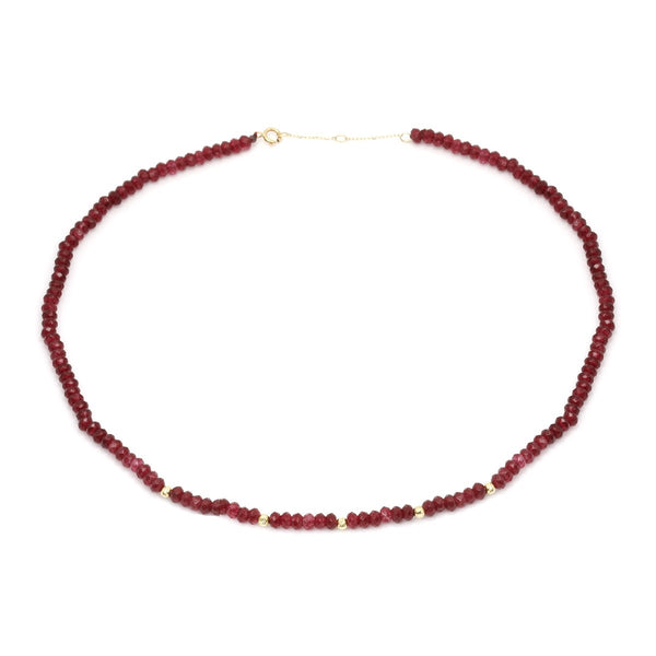 18K Gold Ruby Rough Necklace | Stunner | Fashion Accessories | Necklace