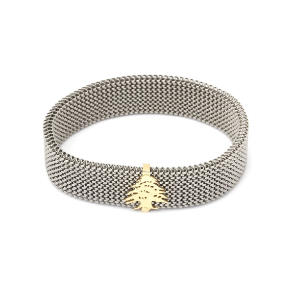 18K Gold Cedar Tree Bracelet | S by Sahar Bash | Fashion Accessories | Bracelet
