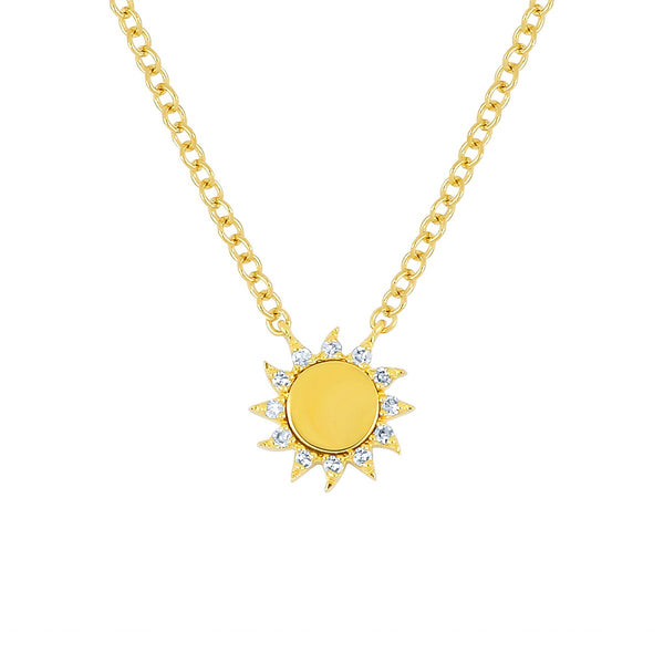 14K Gold Sun Necklace | EF Collection | Fine Jewelry | Necklaces