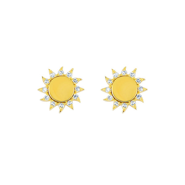 14K Gold Sun Earrings | EF Collection | Fine Jewelry | Earrings