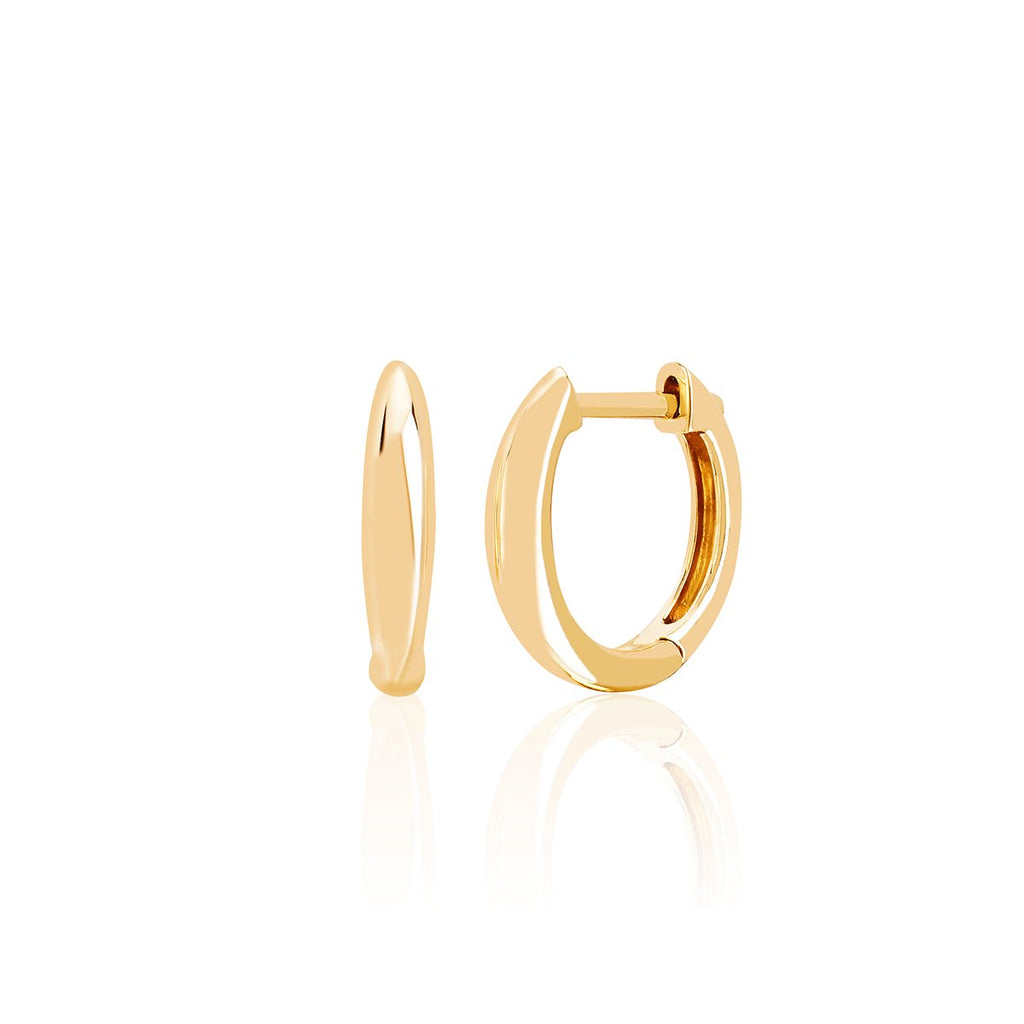 14K Gold Dome Mini Huggie Earrings | EF Collection | Fine Jewelry | Earrings