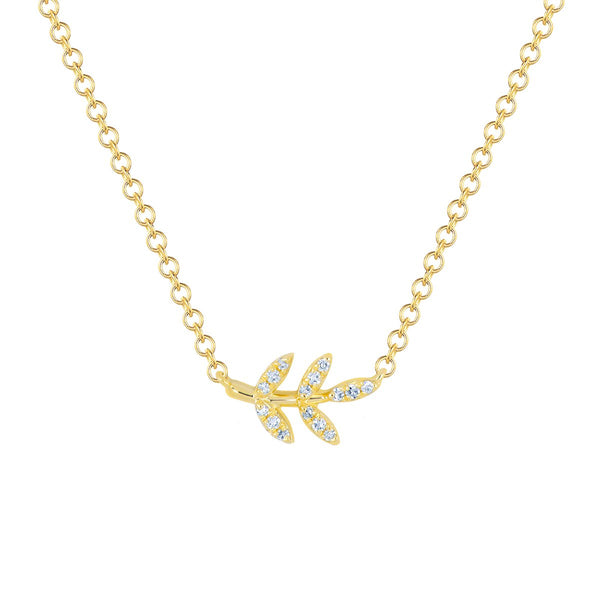 14K Gold Leaf Necklace | EF Collection | Fine Jewelry | Necklaces