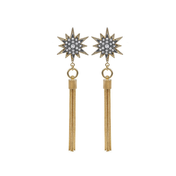 Double Star With Tassel Earrings | Anton Heunis | Fashion Accessories | Earrings