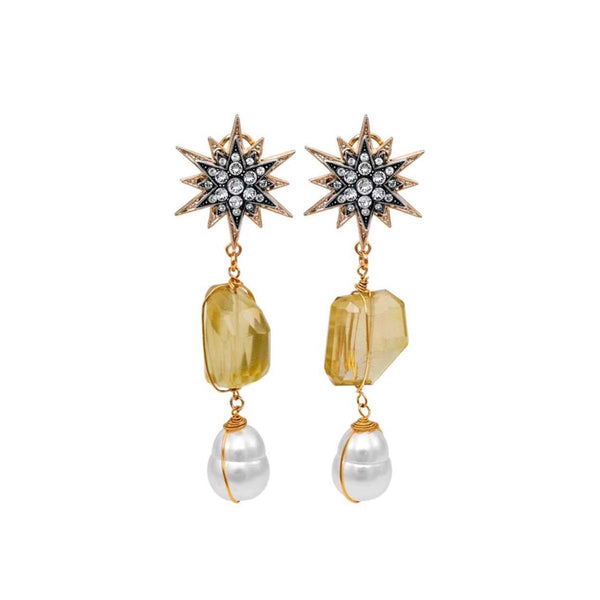 Quartz And Pearl Earrings | Anton Heunis | Fashion Accessories | Earrings