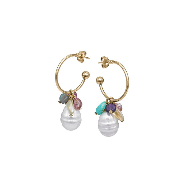 Quartz And Pearl Drops Earrings | Anton Heunis | Fashion Accessories | Earrings