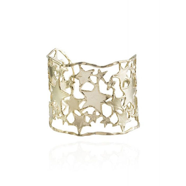 Star Pattern Cuff Bracelet | Marcia Moran | Fashion Accessories | Bracelets